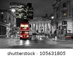 Royal Exchange London With Red...