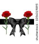 mourning tape carnations...   Shutterstock .eps vector #1056319895