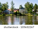 houses and environment in... | Shutterstock . vector #105632267