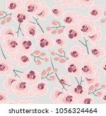 pattern of colorful orchid... | Shutterstock .eps vector #1056324464