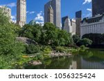 new york july 24  a scenic view ... | Shutterstock . vector #1056325424