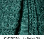 Small photo of Bilayer patterns from green wool yarn