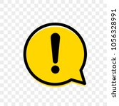 alert icon of warning attention ... | Shutterstock .eps vector #1056328991