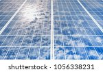 solar panel  photovoltaic  with ... | Shutterstock . vector #1056338231