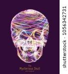 vector colorful skull...   Shutterstock .eps vector #1056342731