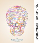 vector colorful skull... | Shutterstock .eps vector #1056342737