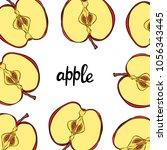 fruit. pattern. apple. | Shutterstock .eps vector #1056343445