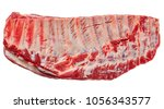 raw fesh spare ribs isolated on ... | Shutterstock . vector #1056343577