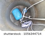 new borehole with water supply...   Shutterstock . vector #1056344714