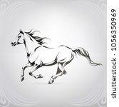 vector silhouette of a running... | Shutterstock .eps vector #1056350969