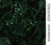 seamless pattern of green... | Shutterstock .eps vector #1056351821