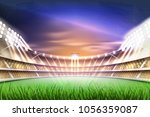 football soccer stadium tribune ... | Shutterstock .eps vector #1056359087