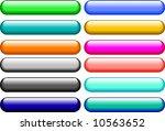 popular vector buttons   Shutterstock .eps vector #10563652