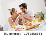 cute young couple enjoying...   Shutterstock . vector #1056368951