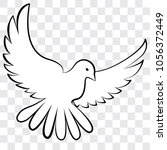 white dove on a transparent... | Shutterstock .eps vector #1056372449