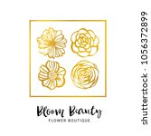 flower boutique logo template.... | Shutterstock .eps vector #1056372899
