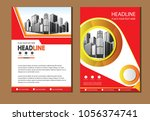 front and back cover of a... | Shutterstock .eps vector #1056374741