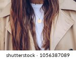 fashion blogger outfit details. ...   Shutterstock . vector #1056387089