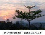 thailand countryside with old... | Shutterstock . vector #1056387185