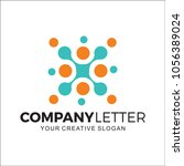 circle digital design logo | Shutterstock .eps vector #1056389024