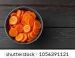 Sliced Carrots In A Bowl On...