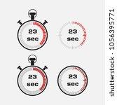 timer 23 seconds on gray... | Shutterstock .eps vector #1056395771