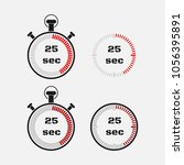 timer 25 seconds on gray... | Shutterstock .eps vector #1056395891
