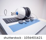 audiometer is specialized... | Shutterstock . vector #1056401621