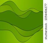 green corporate elegant waves... | Shutterstock .eps vector #1056406277