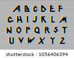 distortion alphabet. vector...   Shutterstock .eps vector #1056406394