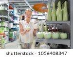 beautiful young caucasian woman ...   Shutterstock . vector #1056408347