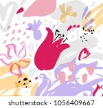 abstract floral background ... | Shutterstock .eps vector #1056409667