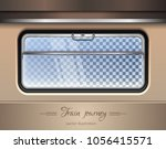 train window. window of the... | Shutterstock .eps vector #1056415571