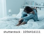 Depressed Woman Awake In The...