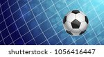 soccer ball in a grid   Shutterstock .eps vector #1056416447