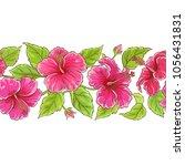 hibiscus  vector pattern | Shutterstock .eps vector #1056431831