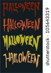scary grunge halloween text font   Shutterstock .eps vector #105643319