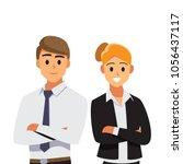 businessmen consulting ... | Shutterstock .eps vector #1056437117