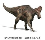 3D render depicting a Corythosaurus dinosaur, which lived during the Cretaceous period - isolated on white. - stock photo