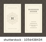 luxury business card and... | Shutterstock .eps vector #1056438434