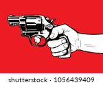 hand with gun illustration...