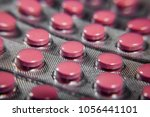 medicine pills in packs pills... | Shutterstock . vector #1056441101