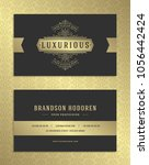 luxury business card and... | Shutterstock .eps vector #1056442424