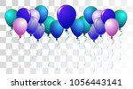 realistic helium balloons... | Shutterstock .eps vector #1056443141
