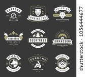 camping logos templates vector... | Shutterstock .eps vector #1056444677