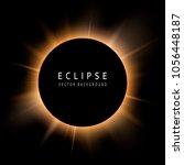 solar eclipse. black space for... | Shutterstock .eps vector #1056448187