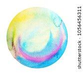 big blue full moon round circle ... | Shutterstock . vector #1056456311