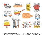bundle of inscriptions... | Shutterstock .eps vector #1056463697