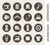 sewing icon set | Shutterstock .eps vector #1056464351