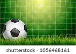soccer ball in goal   Shutterstock .eps vector #1056468161